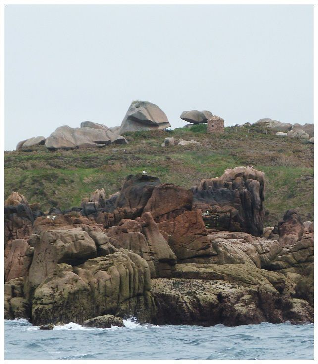 Les  côtes  de  Ploumanach vues  de  la  mer  .
