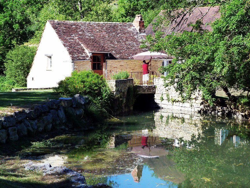 Notre séjour  dans  le  lot : Le  gîte  du Moulin Auriol à Peyrilles !