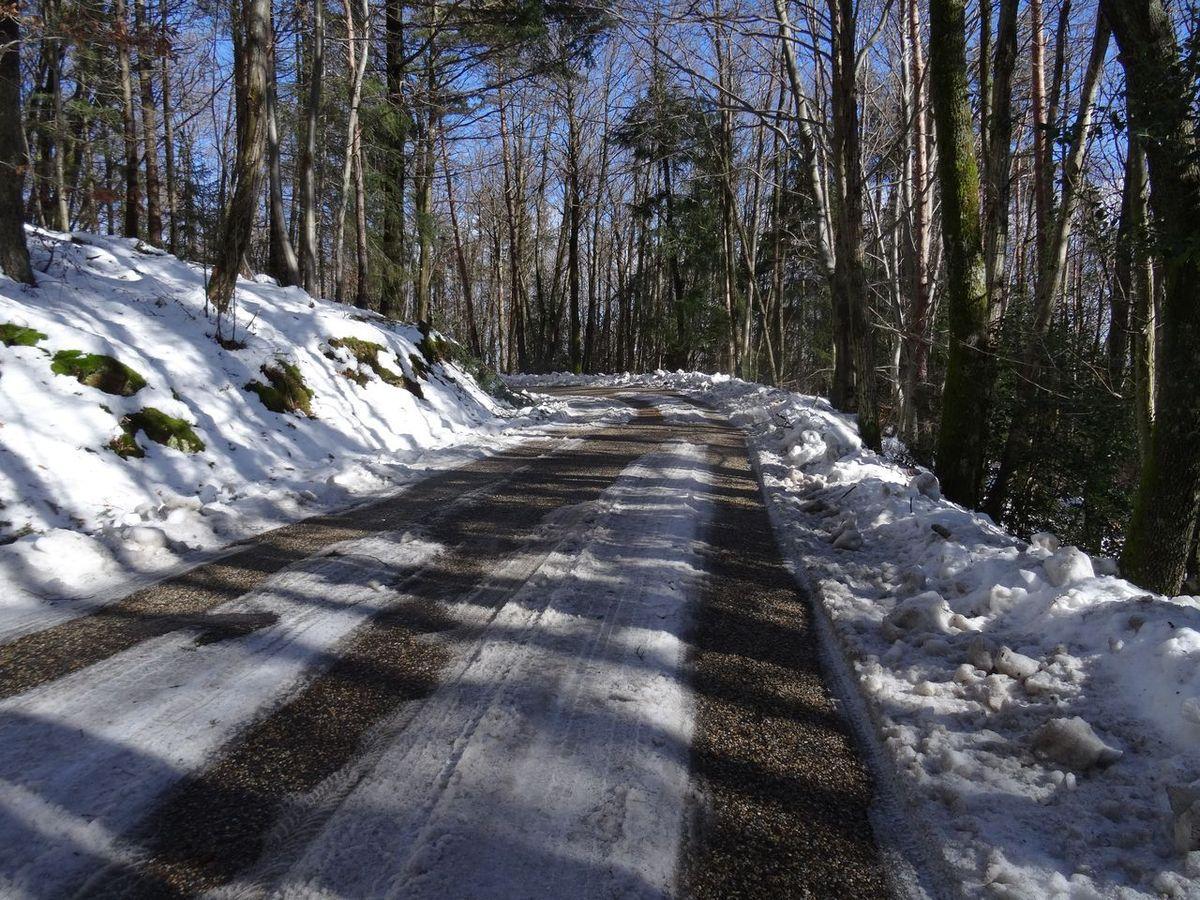 """Sur la route de Grozon un seul passage pose """"problème"""" mais il ne nécessite pas de déchaussage"""