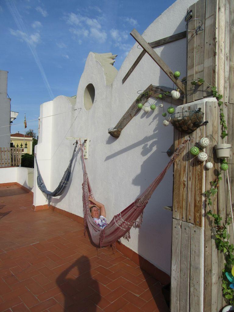 La terrasse de la chambre d'hôte (Zoo Loco, vraiment à recommander !)