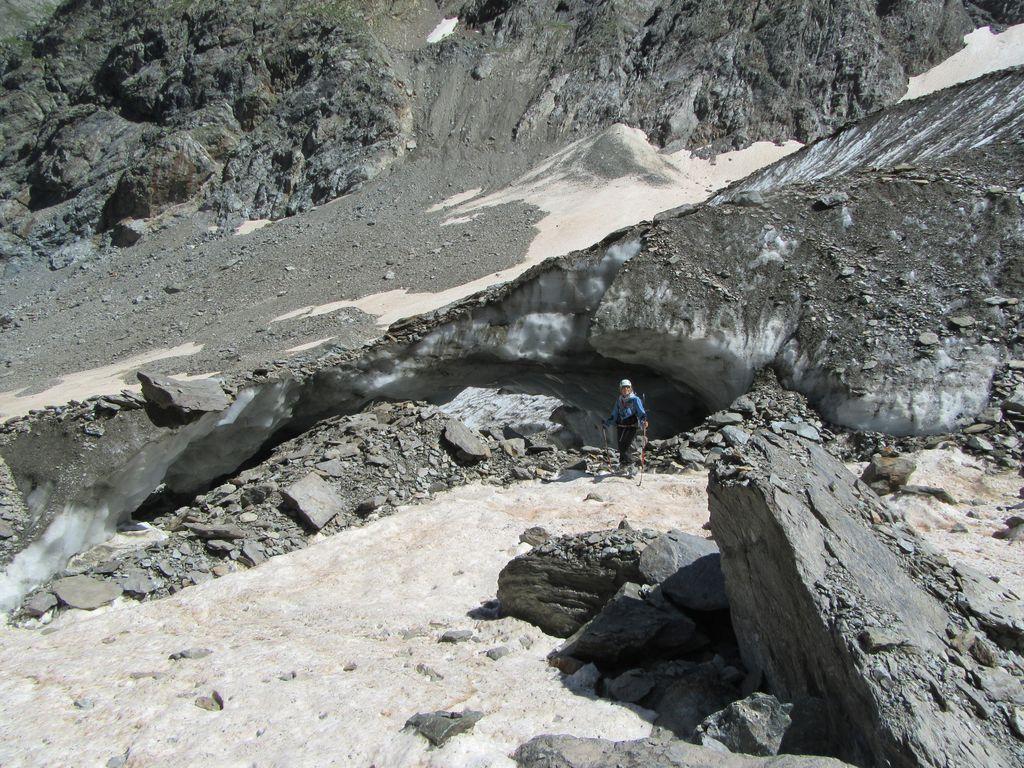 Le front glaciaire (glacier du chardon)