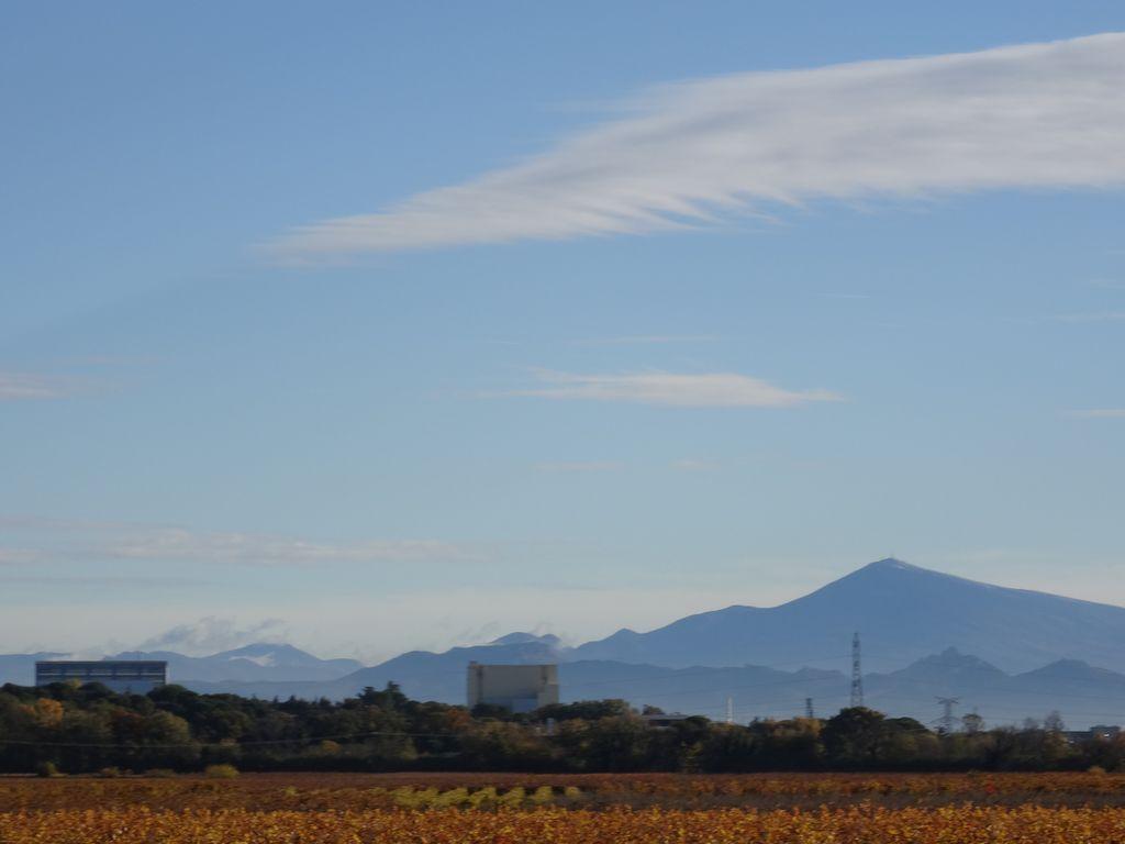 Bien sûr depuis les petites collines du Gard ... on voit le Ventoux