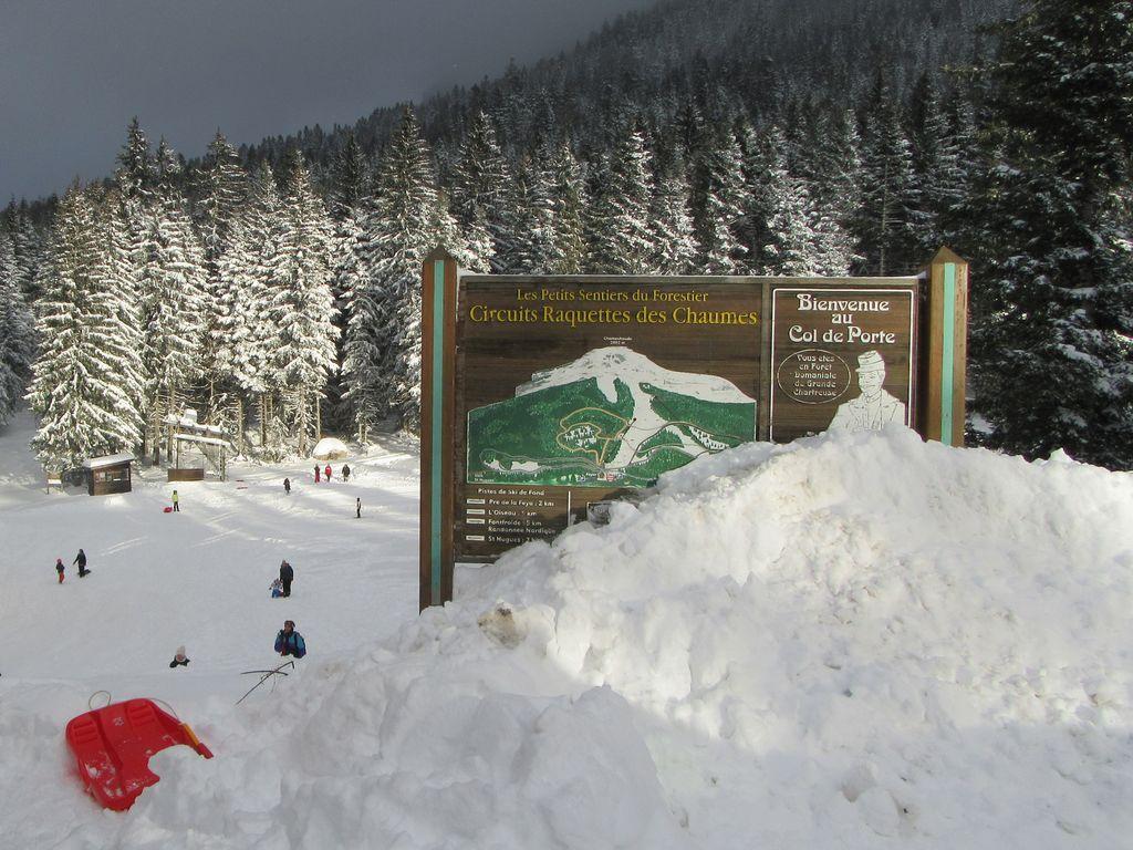 Les plaisirs de la neige au col de Porte