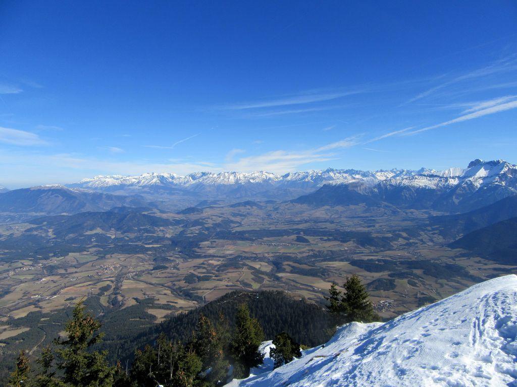 Le Mont aiguille entre les skis