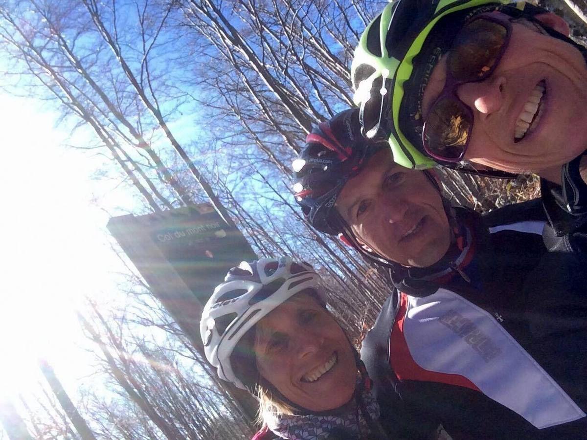 le super trio au col du Mt Noir !