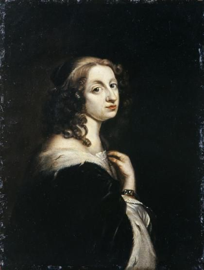 Portrait de Christine de Suède par David Beck (1650)