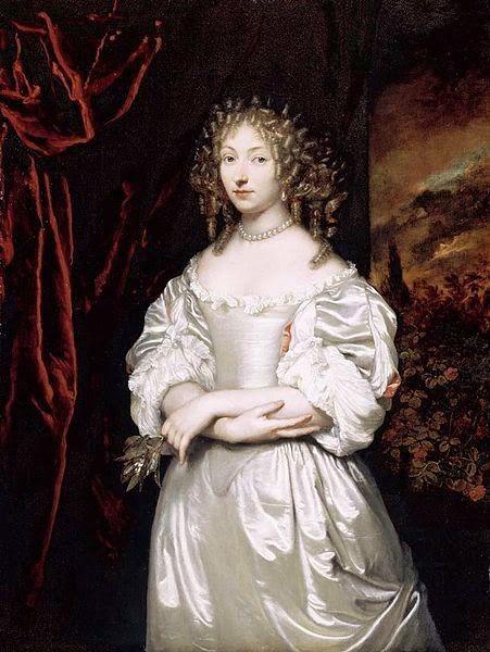 Portrait de Suzanna Doublet-Huygens par Caspar Netscher (1639-1684)