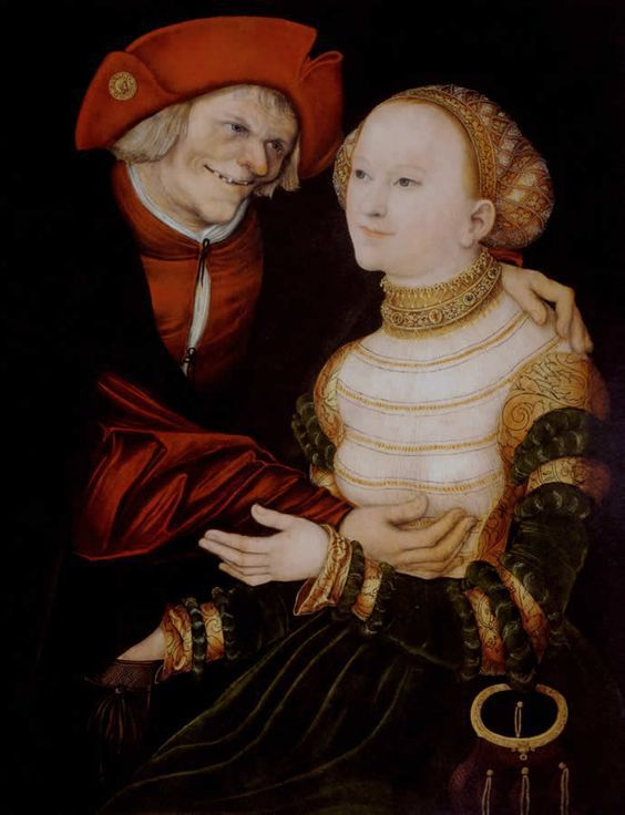 Les couples mal assortis - Lucas Cranach