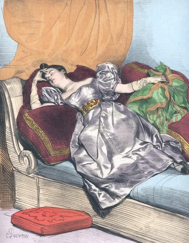 'Les Heures de la Parisienne'': ces lithographies furent initialement publiées en 1840.