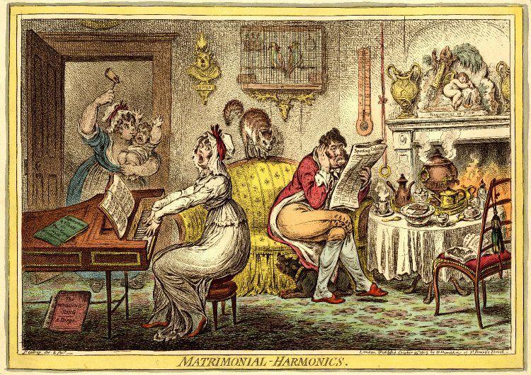 Le mariage selon le caricaturiste anglais J Gillray