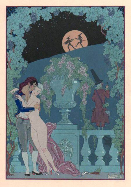 Illustrations ''galantes'' -1/.- G. Barbier