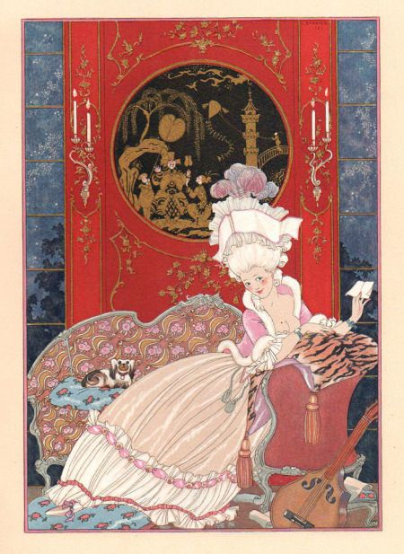 Illustrations ''galantes'' -1/.- G. Barbier
