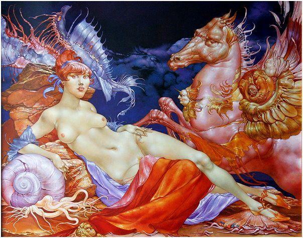 La Femme de Heinz Zanders, peintre allemand