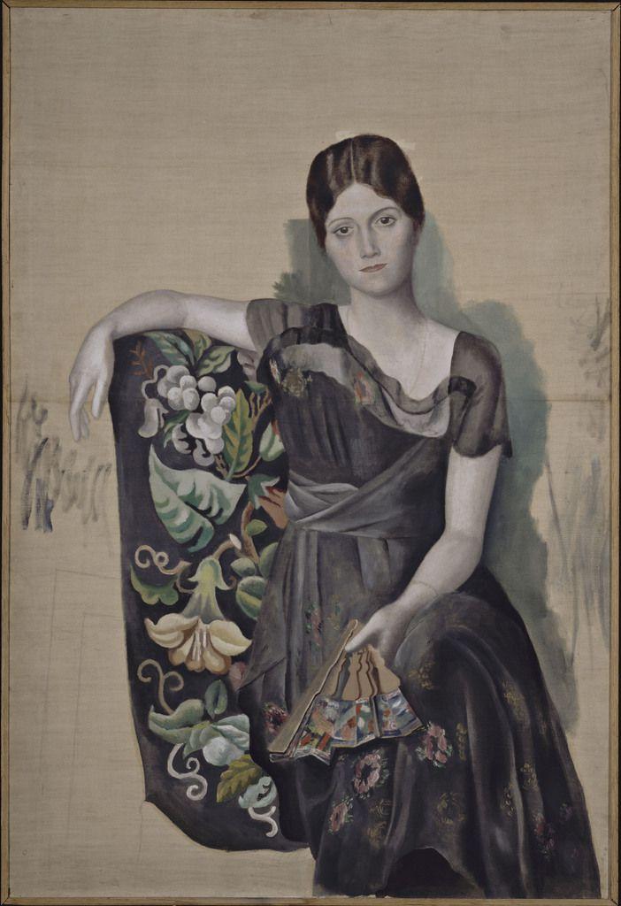 Portrait d'Olga dans un fauteuil. Huile sur toile 130 x 88,8 cm. 1917. Musée Picasso.
