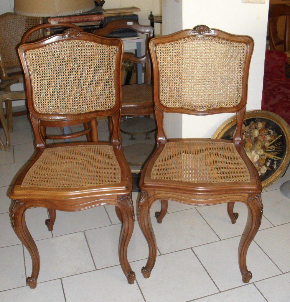 chaises anciennes cannées ou paillées