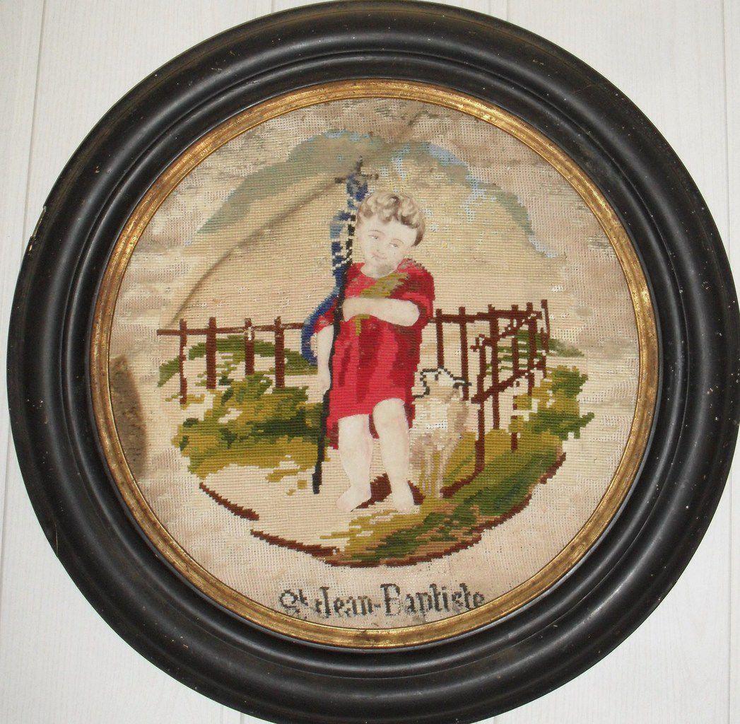 Cadre Napoléon III Poirier noirçi forme ronde