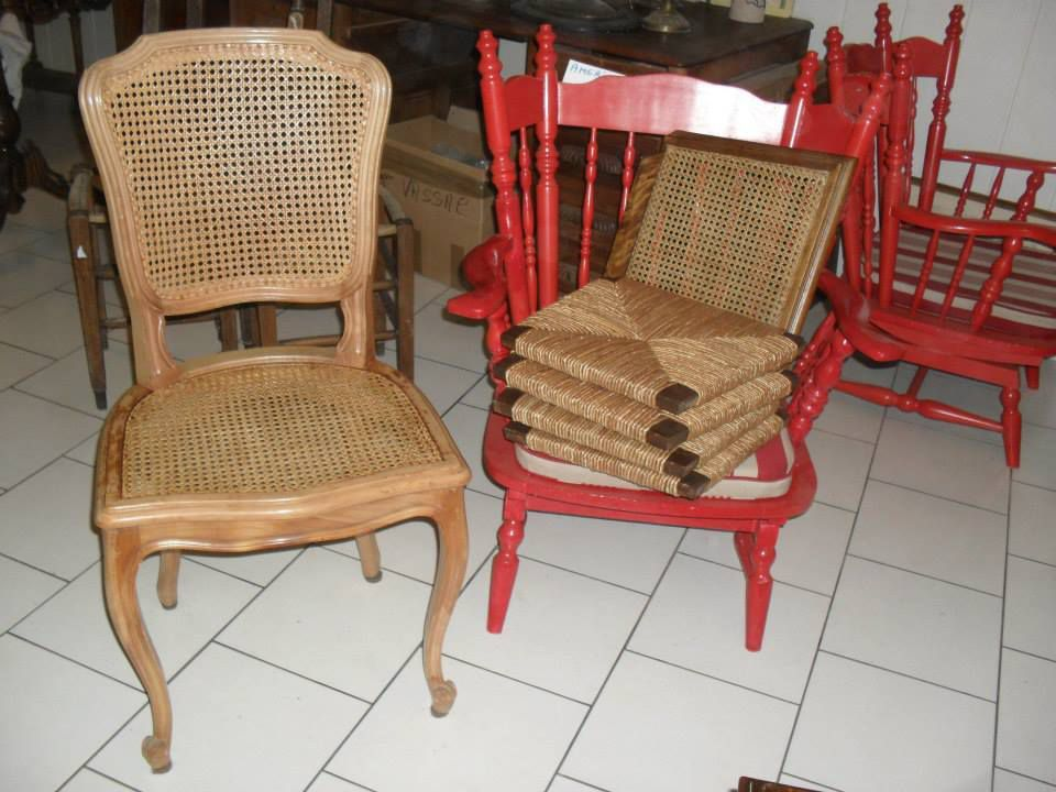 Jadis cannage de chaises fauteuils banquettes for Cannage de chaise