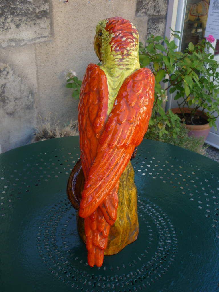 Grand perroquet Ara en céramique de Vallauris à vendre