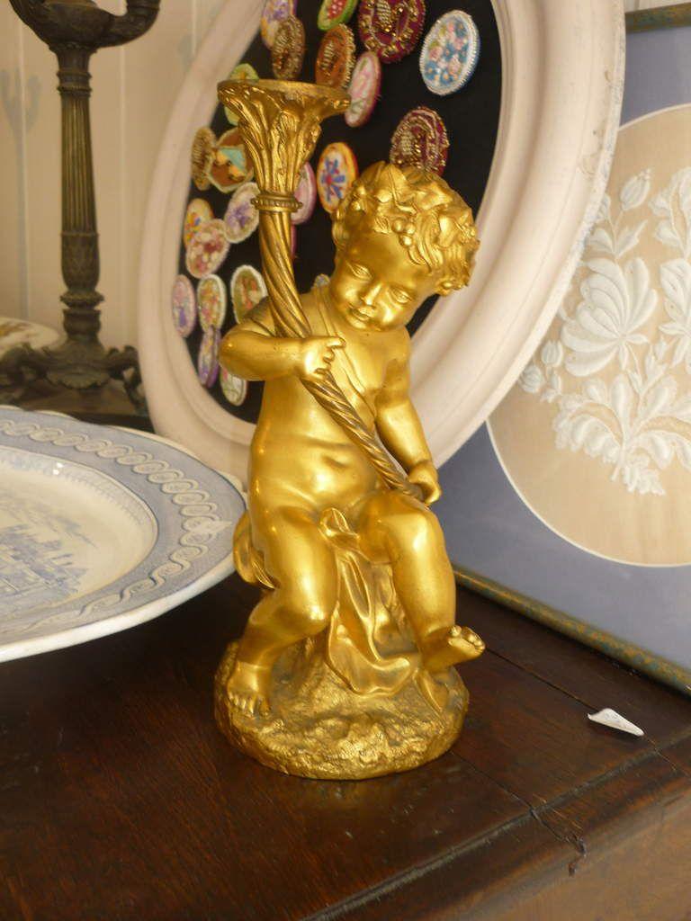 Chérubin en bronze doré à Vendre