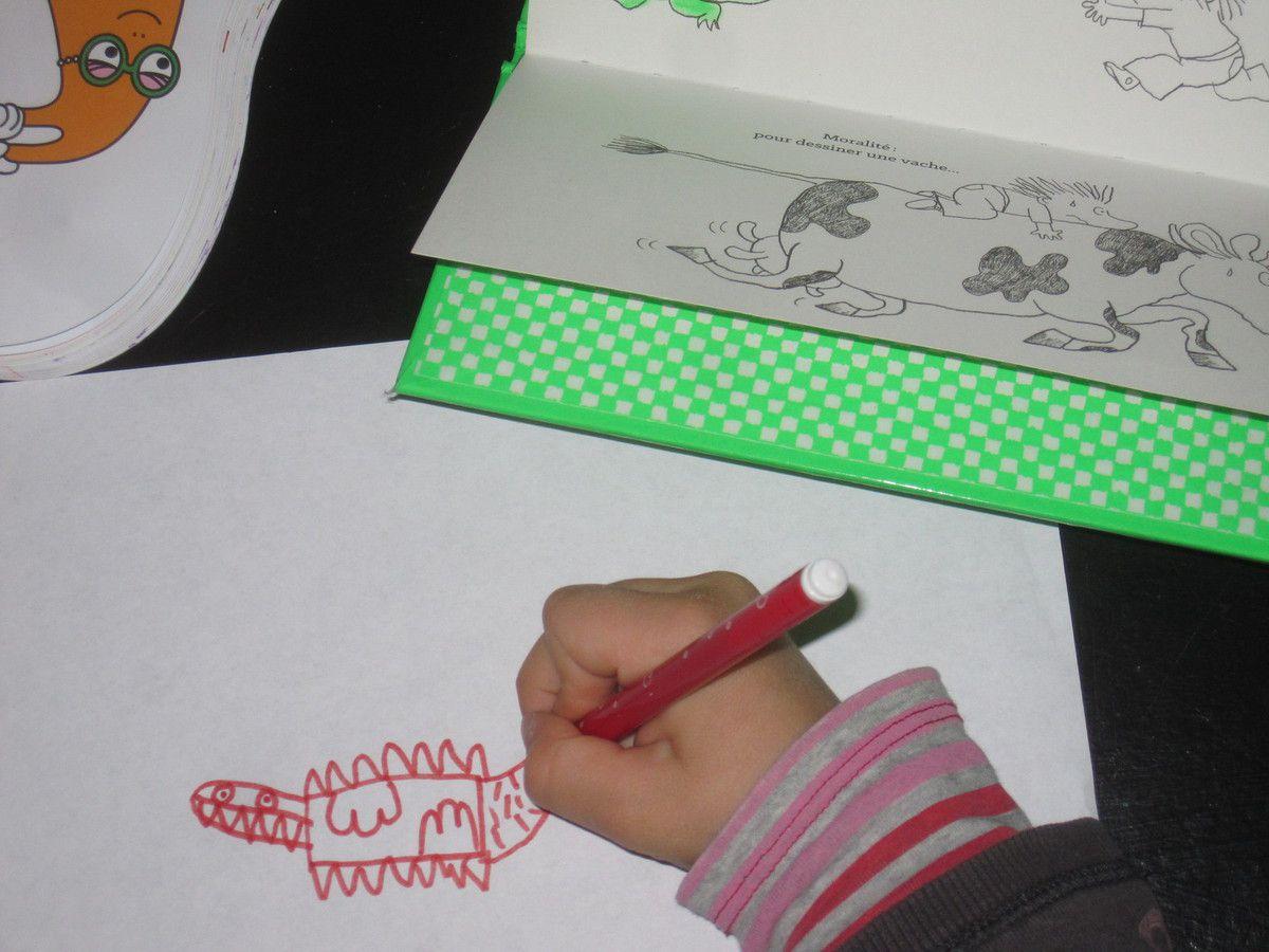 Le meilleur livre pour apprendre à dessiner une vache-Hélène RICE, Ronan BADEL-Thierry Magnier Editions