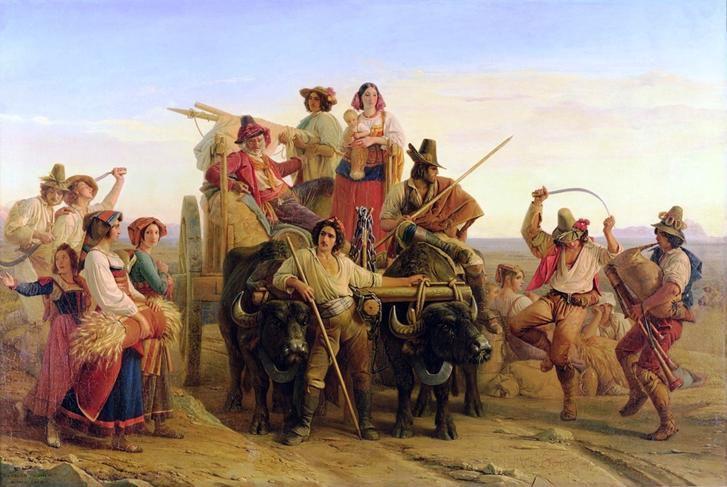 Puis en mode JOIE ! ( Louis Léopold Robert - Retour des moissonneurs des Marais Pontins Italie 1830 )
