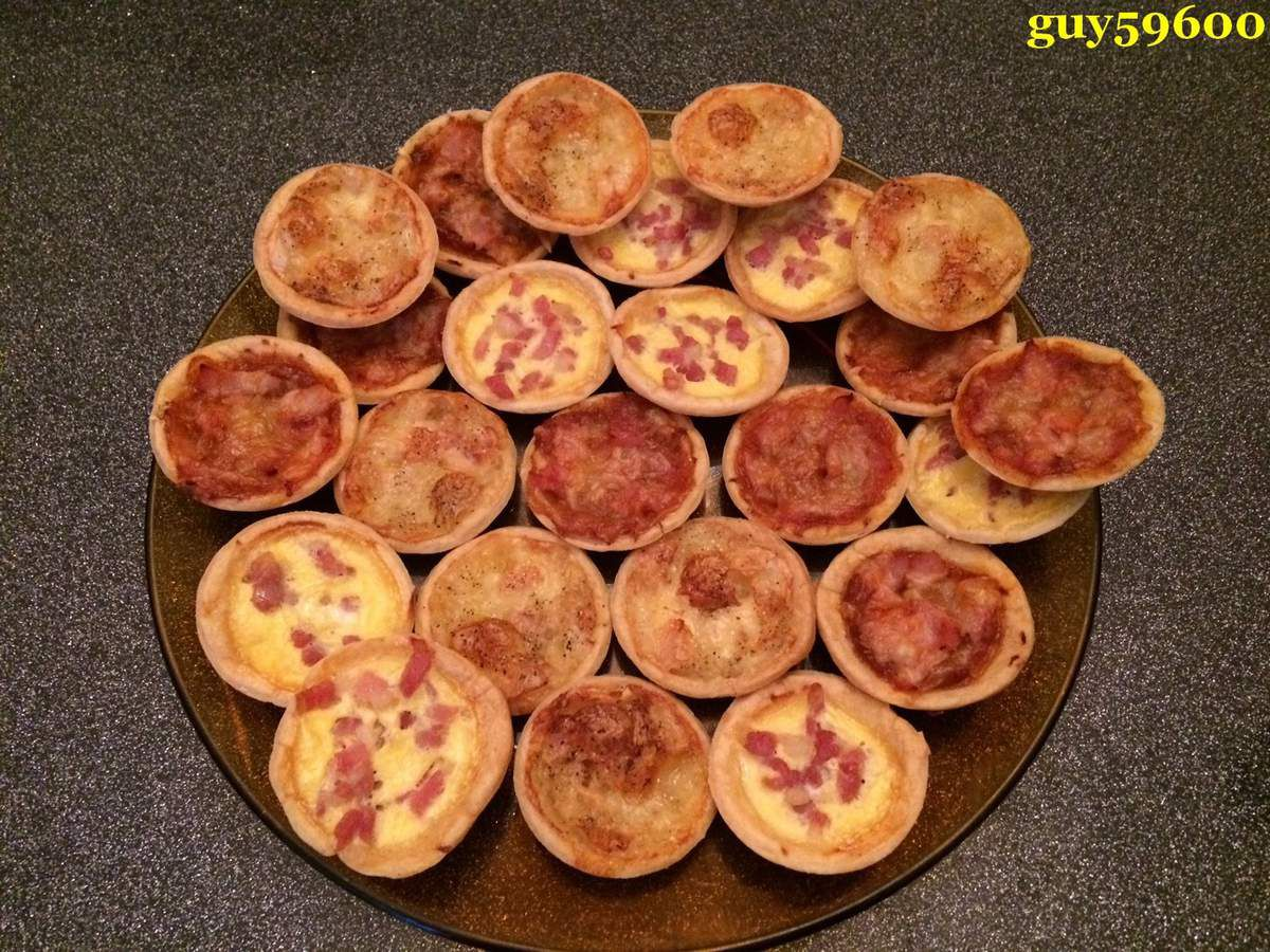 mes petites tartelettes pour l'apèritif de Noël