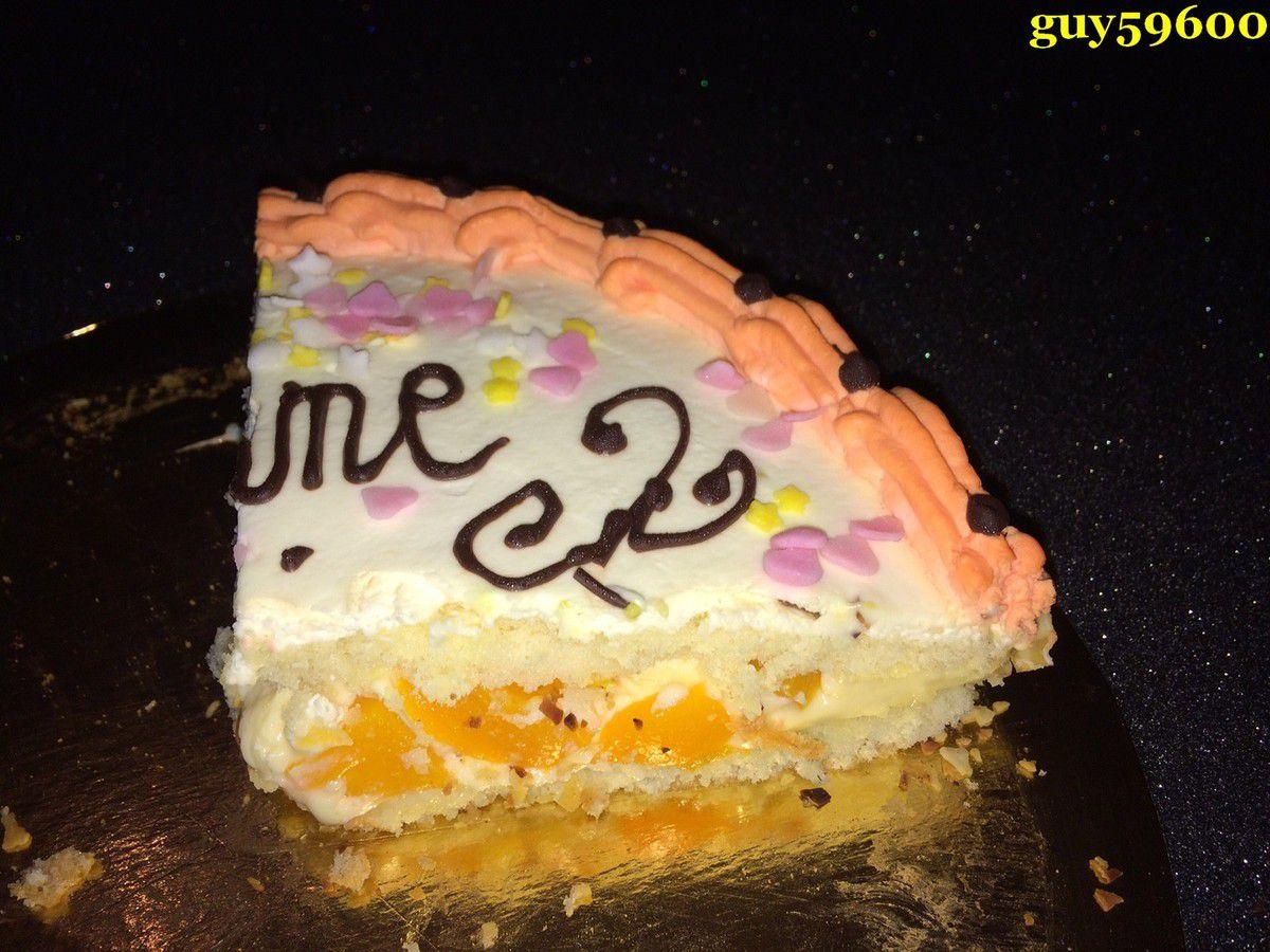 gâteau crème mousseline/pèches