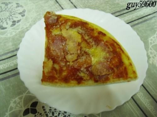 pizza bacon/jambon/chorizo