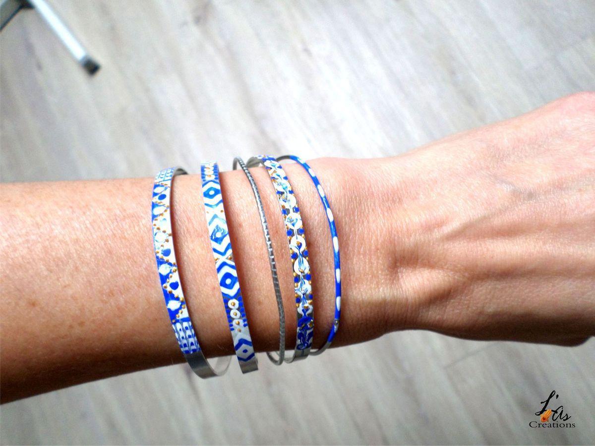 Peindre un bracelet en fil d'aluminium plat
