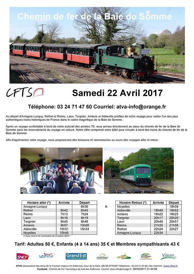 Passage de l'EAD du CFTSA à Tergnier le 22 avril 2017