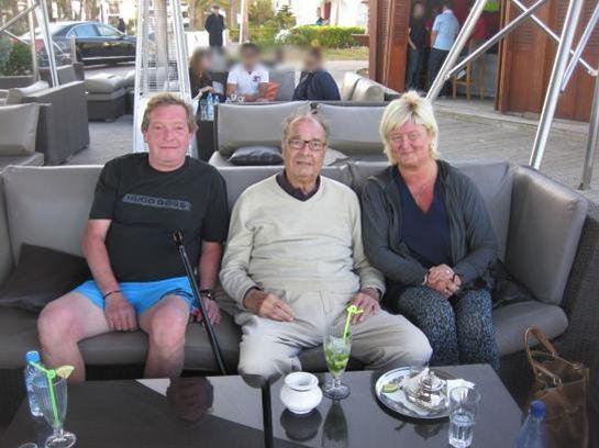 Jacques Chirac prend la pose à Agadir