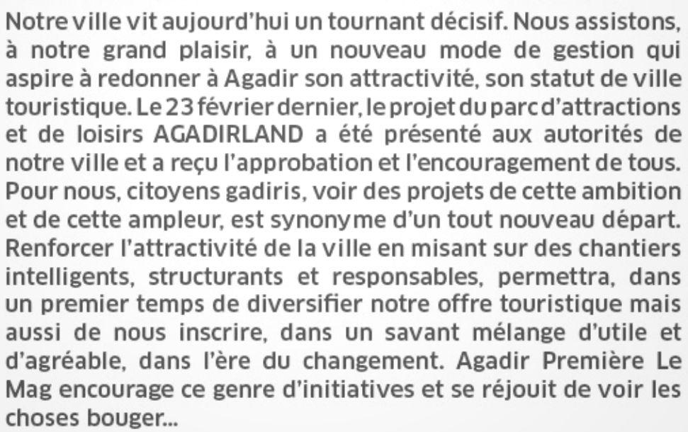 AGADIRLAND, PARC D'ATTRACTIONS ET DE LOISIRS