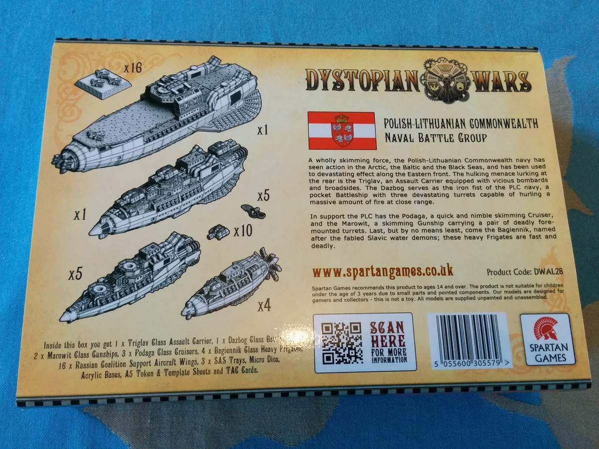 [Dystopian Wars] Open the box Battle group naval Polonais