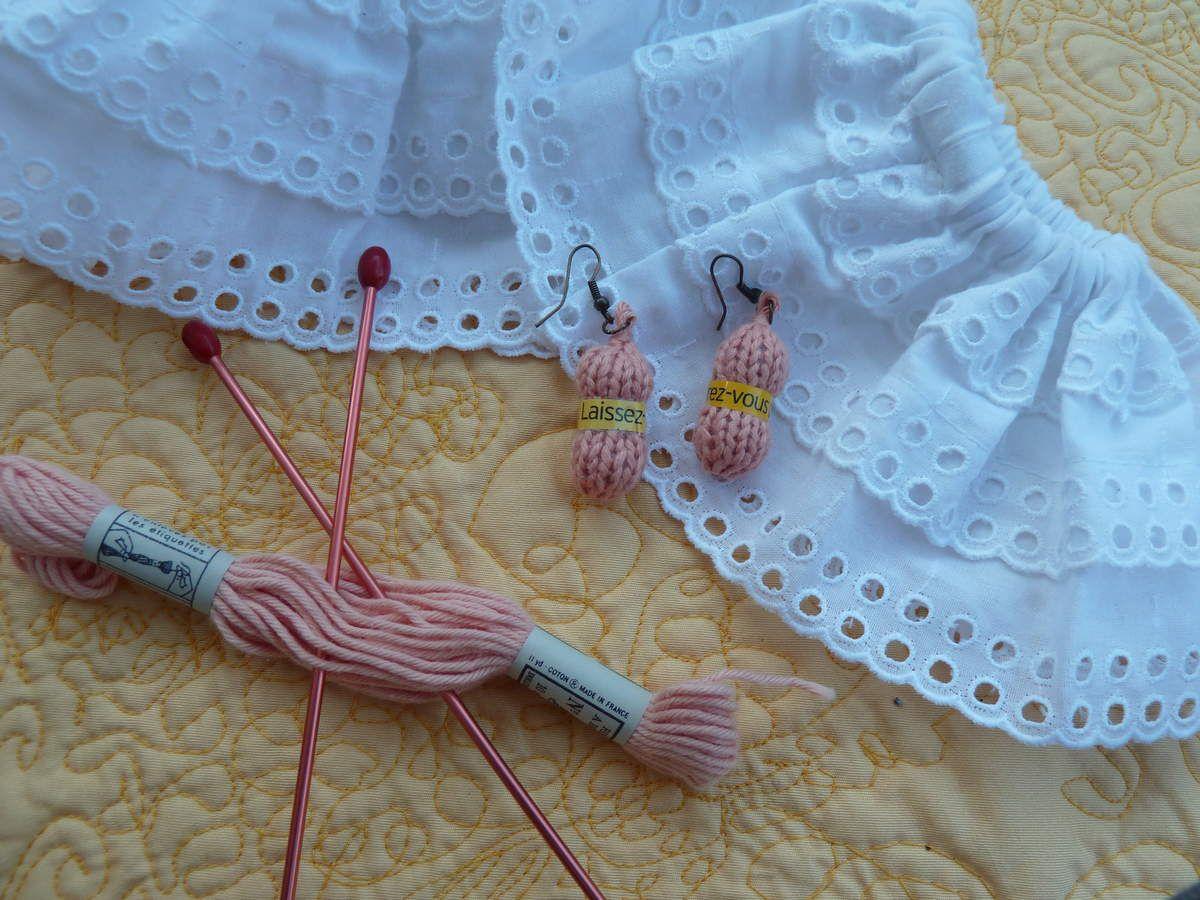 TUTO Boucle d'oreille au tricot