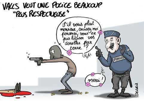 La police idéale selon Manuel Valls.