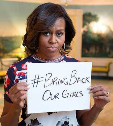 Michelle Obama, Bring back our girls ! http://mashable.com/2014/05/07/michelle-obama-nigeria-bring-back-our-girls/