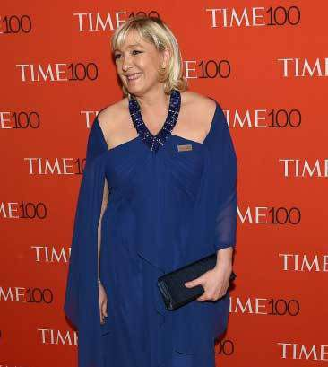 Marine Le Pen à New York invitée par Time Magazine.