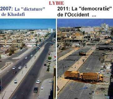 Avant l'intervention de Sarko (et Hollande) en Libye, et après.