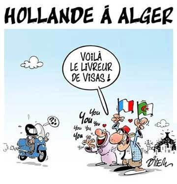 Hollande vu d'Algérie, par Dilem.