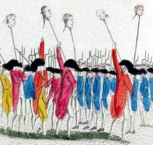 """1789-Têtes au bout des piques des """"privilégiés"""""""