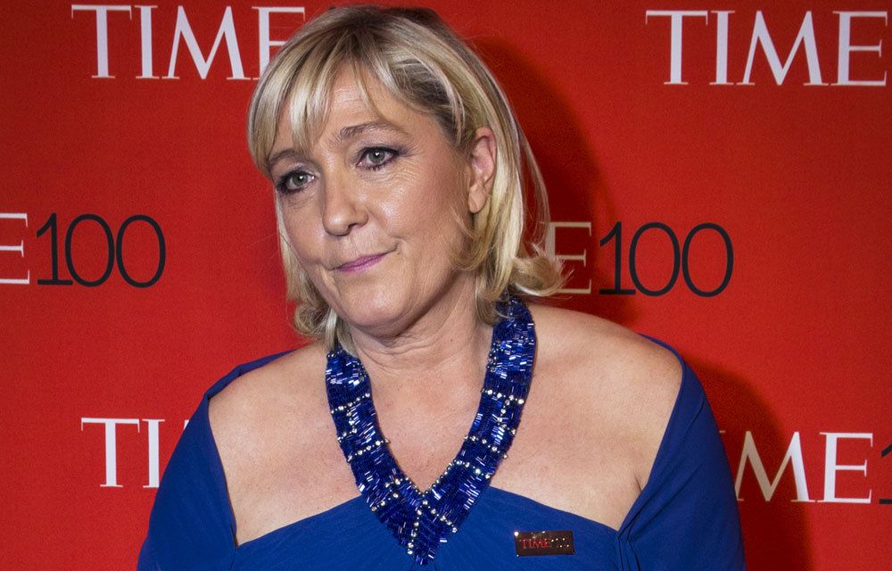 MARINE LE PEN SUR LE TAPIS ROUGE A NEW-YORK