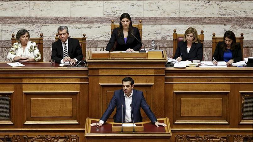 FACE AU PARLEMENT GREC,  ALEXIS TSIPRAS FUSTIGE L'OFFRE DE SES CREANCIERS !..