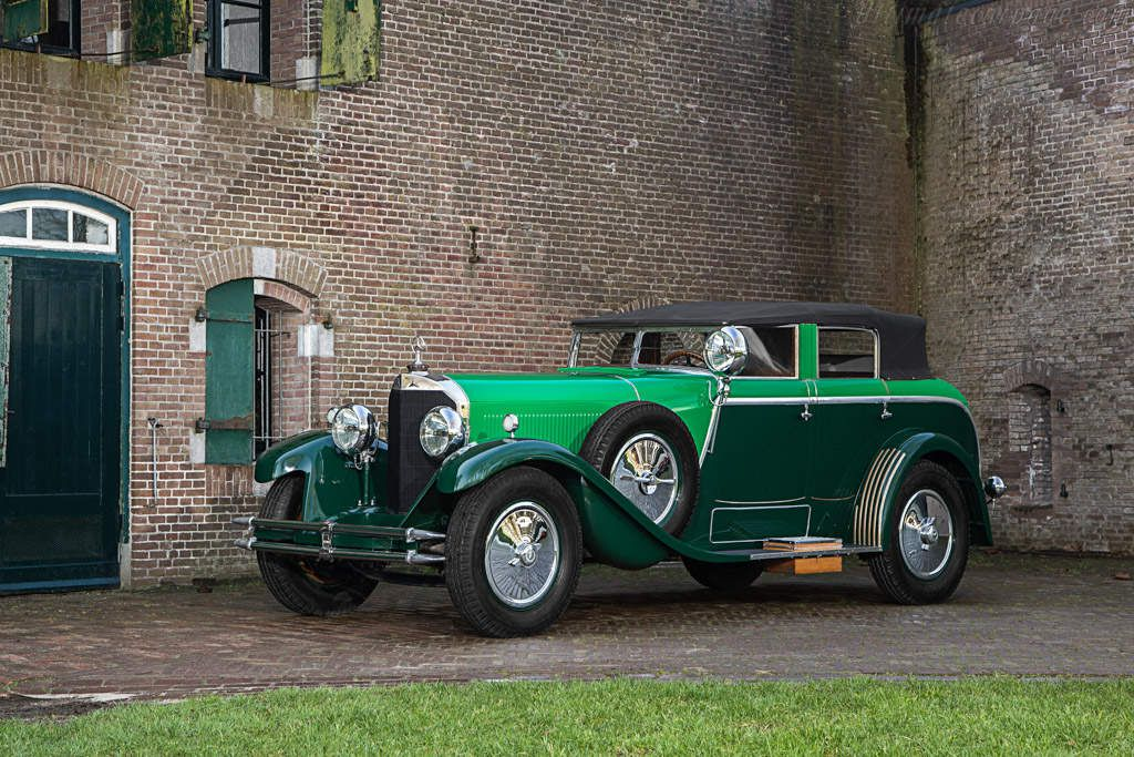 VOITURES DE LEGENDE (598) : MERCEDES 24/10/140 HP   MODEL K SAOUTCHIK CABRIOLET - 1928