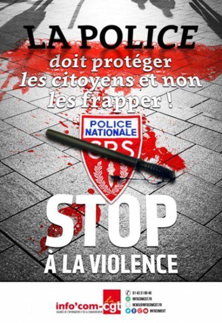 L'AFFICHE CHOQUANTE DE LA CGT !..