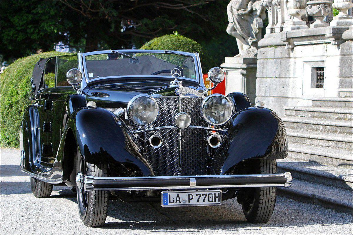 VOITURES DE LEGENDE (613) : MERCEDES-BENZ  770 K W07  CABRIOLET D - 1937