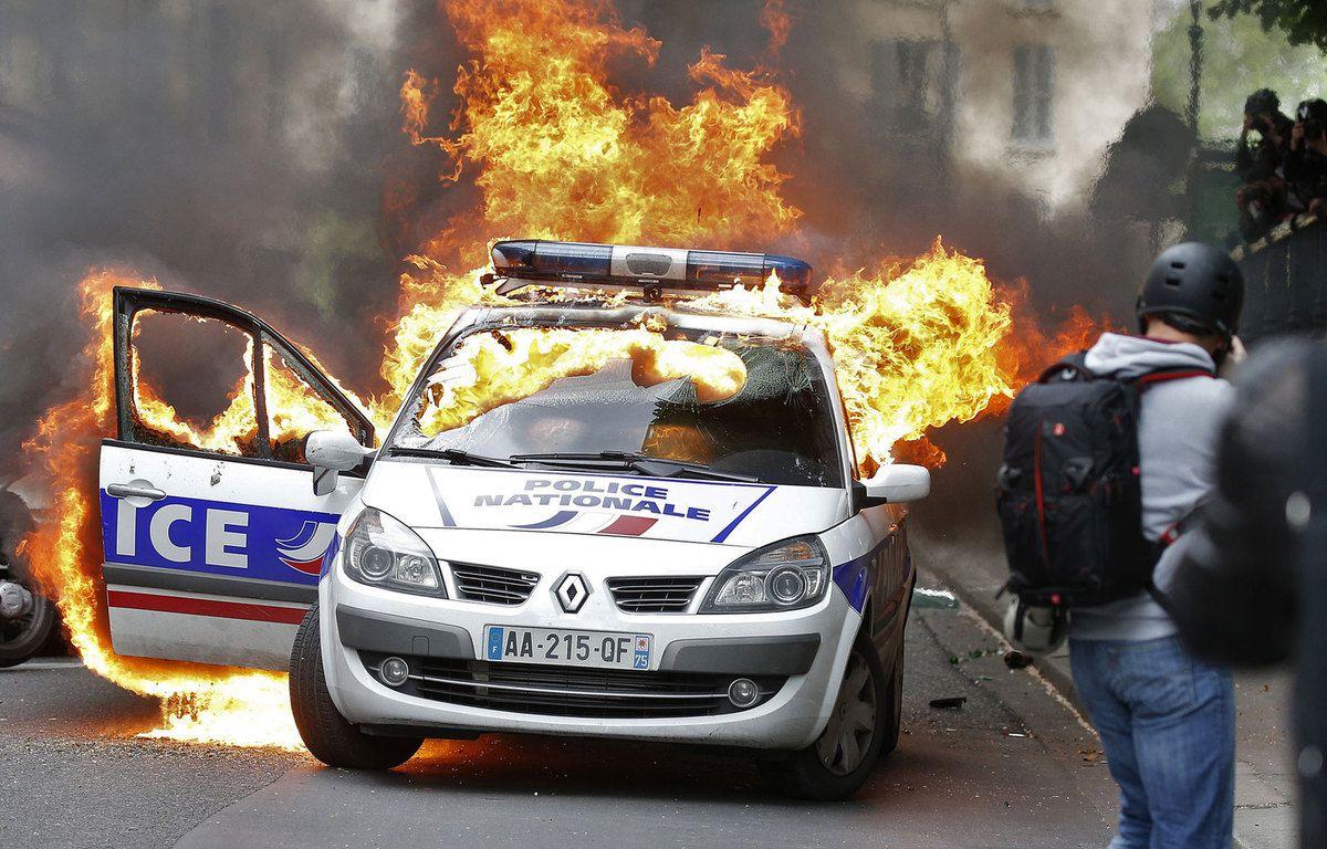VOITURE DE POLICE INCENDIEE : TROIS SUSPECTS REMIS EN LIBERTE SOUS CONTROLE JUDICIAIRE !..