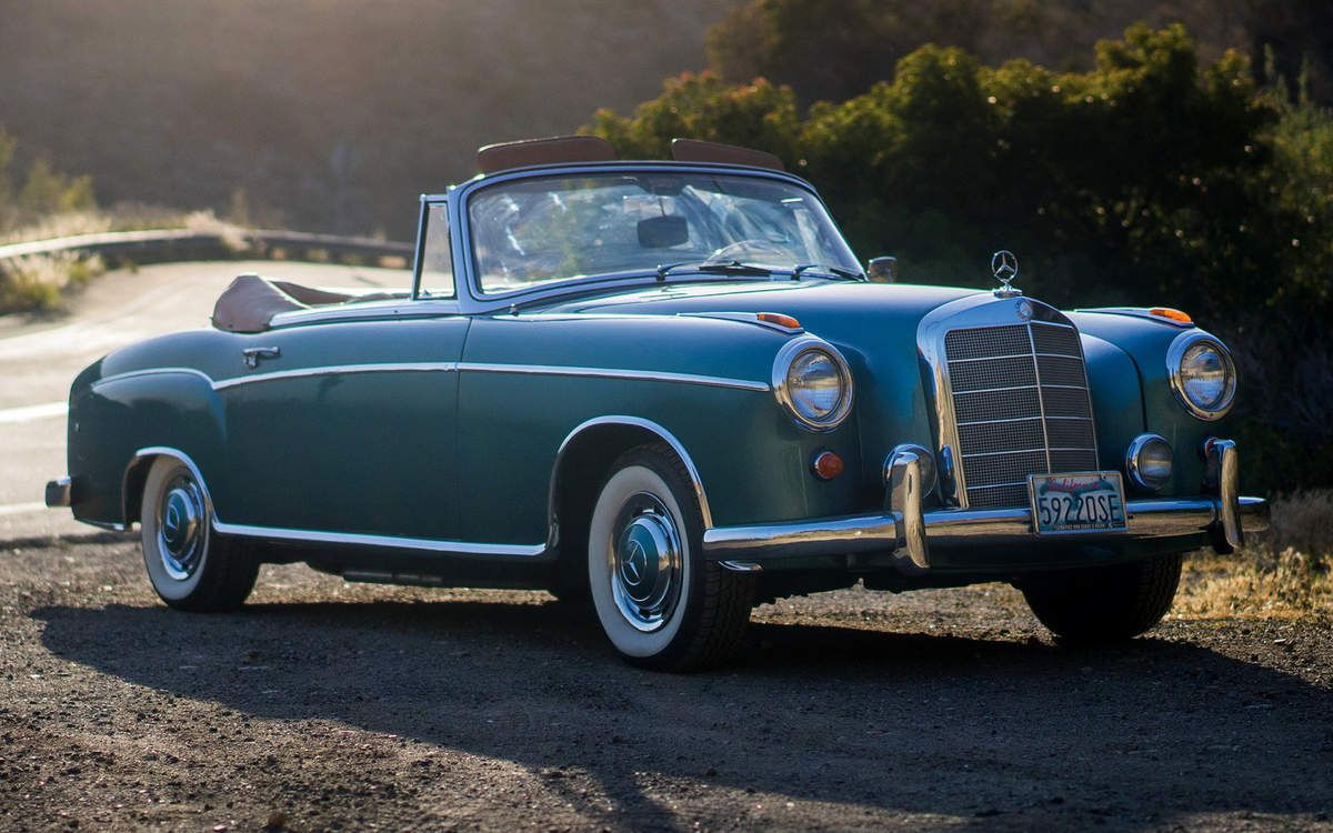 VOITURES DE LEGENDE (711) : MERCEDES-BENZ  220 SE  CABRIOLET  W128 - 1958