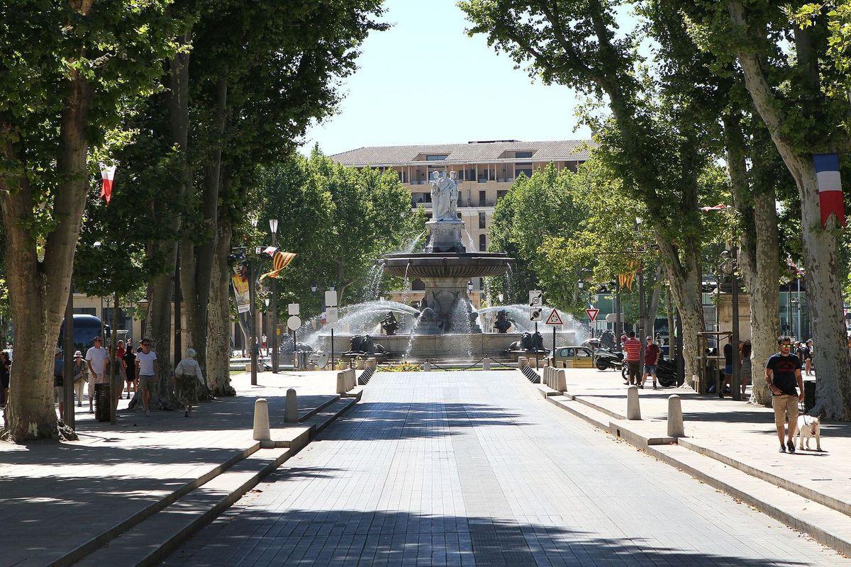 Cours Mirabeau, Aix-en-Provence, Provence-Alpes-Côte d