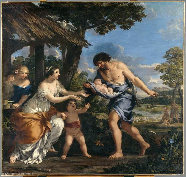 Sources:Romulus et Rémus recueillis par Faustulus &#x3B; louvre.fr