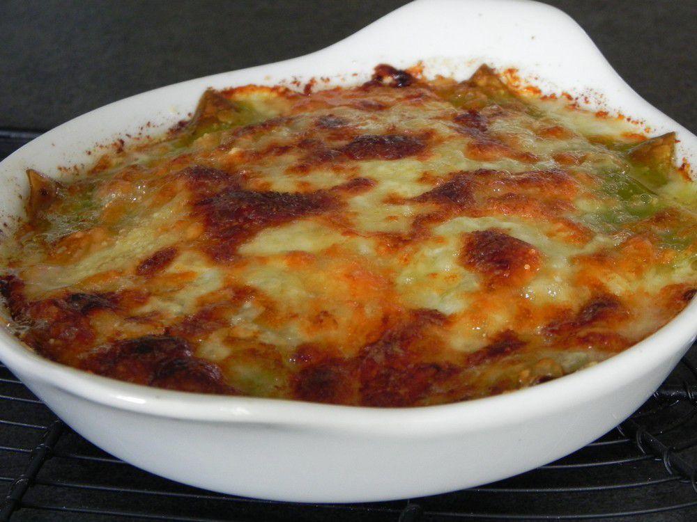 Lasagnes vertes au jambon